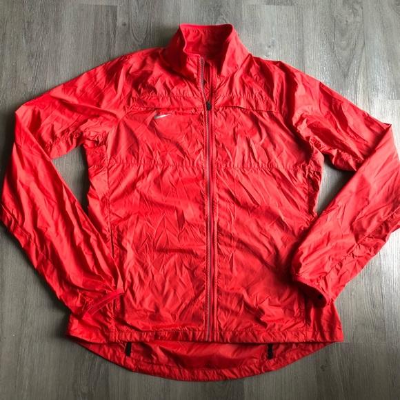Nike Jackets & Blazers - Nike • Women's Red Wind Breaker Rain Jacket
